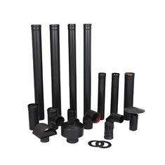 Wood Heater Telescoping Stove Pipe , Double Wall Black Pipe SUS304 Material