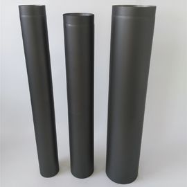 Straight Black Chimney Pipe Length 300mm - 1200mm Single Wall System
