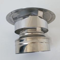 Stainless Steel Chimney Flue Shied Stove Pipe Rain Cap With Spigot Locking Connenction