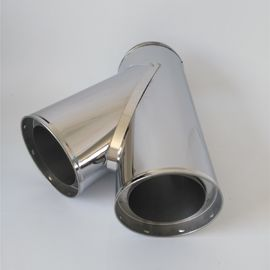 Diameter 80mm Double Wall Stainless Steel Chimney Pipe Flue 135 Degree Tee
