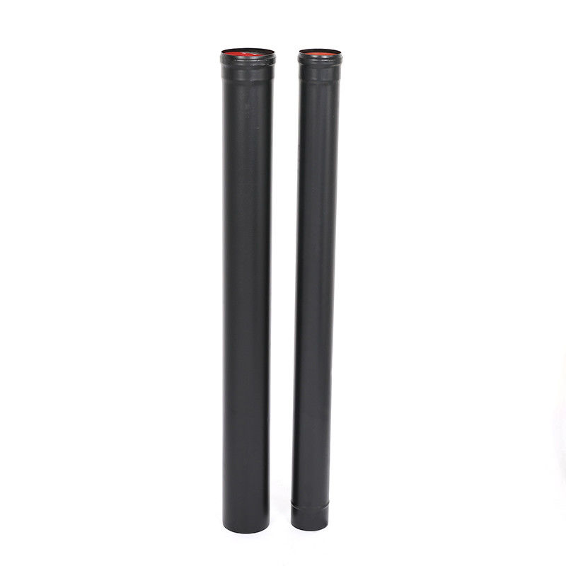 Carbon Steel Black Pellet Stove Pipe Straight Round Shaped Custom Size High Performance supplier