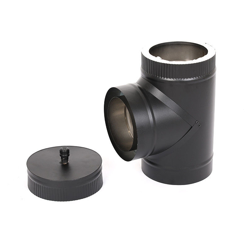 Reliable Spigot Insulated Chimneys , Double Wall Insulated Flue Pipe CE Certificate