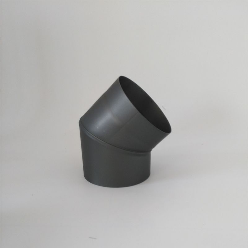 45 Degree Bend Black Chimney Pipe , Stainless Steel Single Wall Stove Pipe Wet V2 supplier