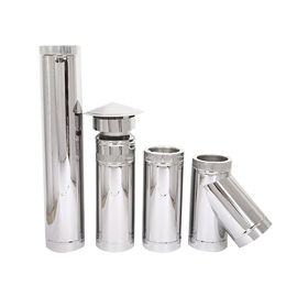 Roof Flashing Double Wall Stainless Steel Stove Pipe Double Lined Flue Pipe System